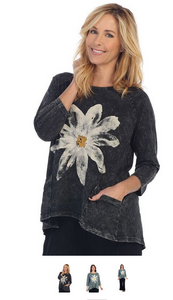 "Jess & Jane Mineral Washed Tunic Top - ""Daisy"""