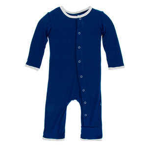 Kickee Pants - Mind the Nap Applique Coverall with Zipper