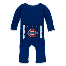 Load image into Gallery viewer, Kickee Pants - Mind the Nap Applique Coverall with Zipper