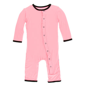 Kickee Pants - Teatime Applique Coverall with Zippers