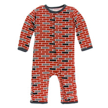 Load image into Gallery viewer, Kickee Pants -Stone  London Town Coveralls with Zipper