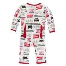 Load image into Gallery viewer, Kickee Pants - London Transport Coveralls with Zipper