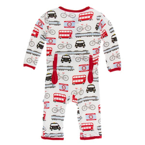 Kickee Pants - London Transport Coveralls with Zipper