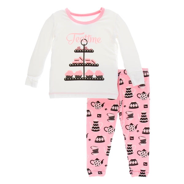 Kickee Pants - Pajamas Teatime Long Sleeve  Set