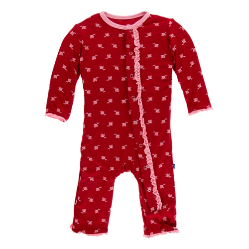 Kickee Pants Muffin Ruffle Coverall with Zipper
