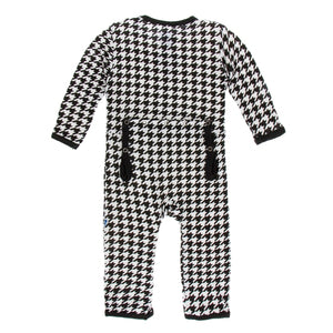 Kickee Pants Zebra Houndstooth Coveralls with Zipper