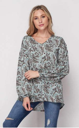 Top with V-Neck detail.