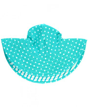 Load image into Gallery viewer, Ruffle Butts Swim Hats for the sun - Mint Seersucker