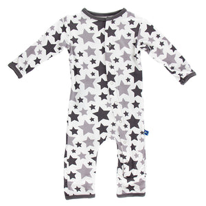 Kickee Pants - Coveralls Feather Rain Stars