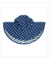 Ruffle Butts Swim Hats for the sun.  Navy Stripe and Polka Dot