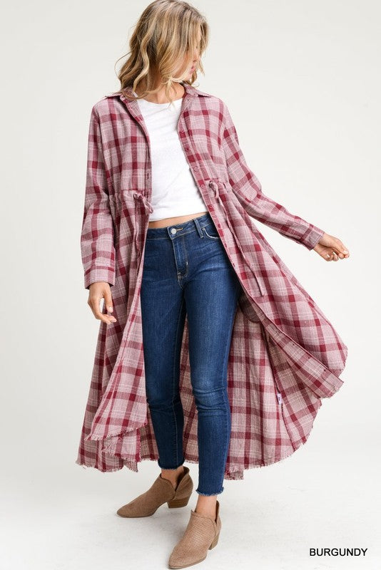 Midi Flannel Dress or Cardigan