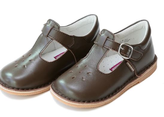 L'Amour Children's Shoes  T-Strap Mary Jane Brown