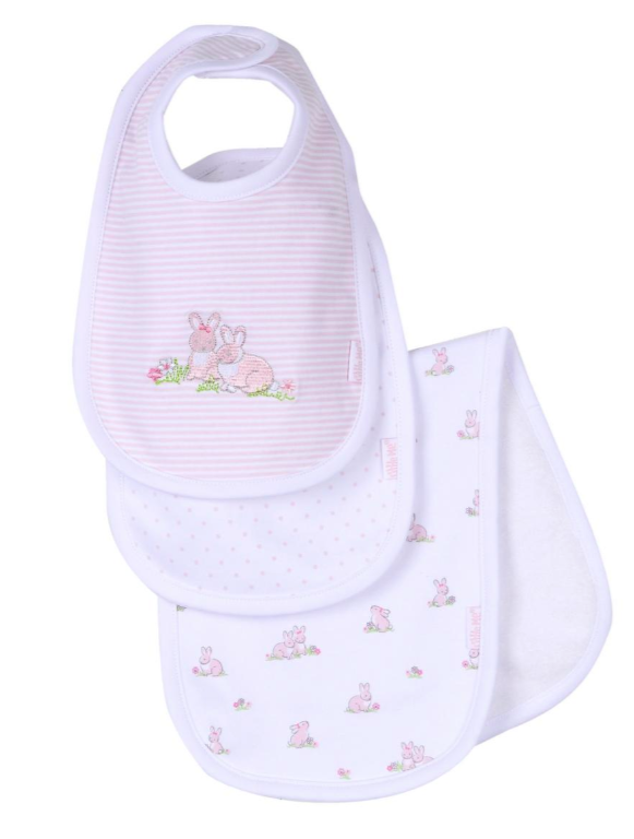 Little Me Baby Bunnies Bib-Burp