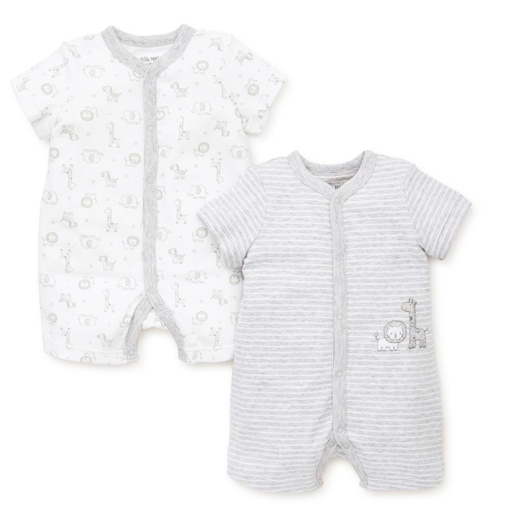Little Me Safari 2pk Romper