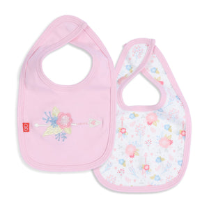 Magnetic Me Nottingham Floral Organic Cotton Magnetic Reversible Bib