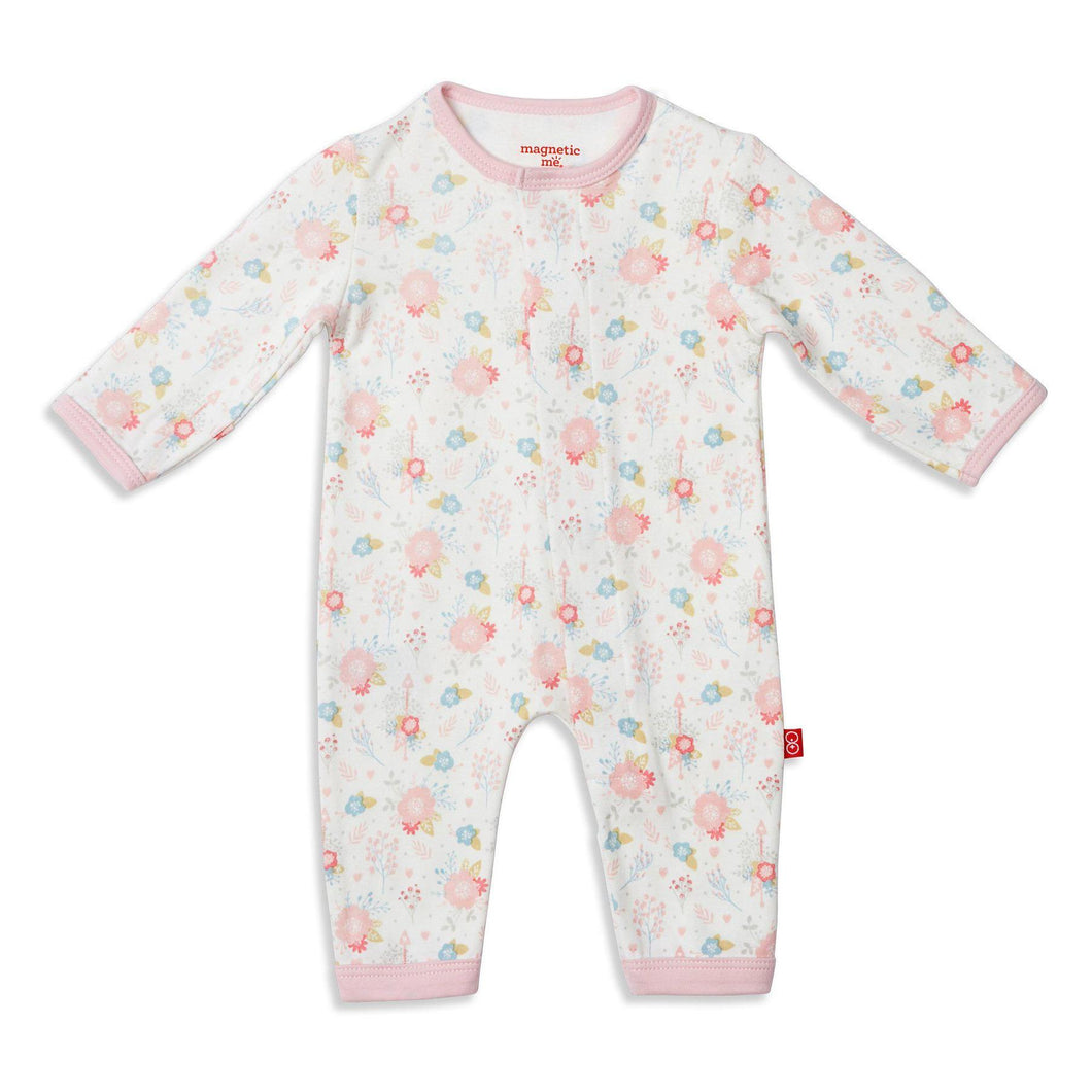 Magnetic Me Nottingham Floral Organic Cotton Magnetic Coverall