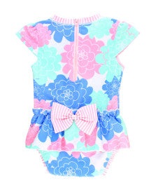 Ruffle Butts Swimsuits Pastel Petals Long Sleeve 1 Piece