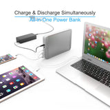 MAXOAK Type-C Power Bank for Laptop MacBook Pro/MacBook Air MacBook 2006-2018 36000mAh 5/9/12/15/20V PD USB-C External Battery Pack Portable Charger W/2USB for Mac Notebook Phone(Recharge by AC/USB-C)
