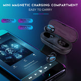 True Wireless Earbuds in-Ear Stereo Bluetooth Headphones Noise Cancelling Headsets Earphones Mini Wireless Headphone V5.0 Bluetooth Earbuds