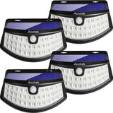 New Solar Lights 4Pack Upgraded High Efficiency 36 LEDs with 11.8 in² Solar Panel