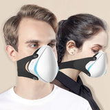 Smart Electric Masks - Medical Grade Fresh Air Purifying Mask with 10PCS Replacement Filters Anti Pollution/Anti Haze/Dust Proof Mask for Exhaust Gas