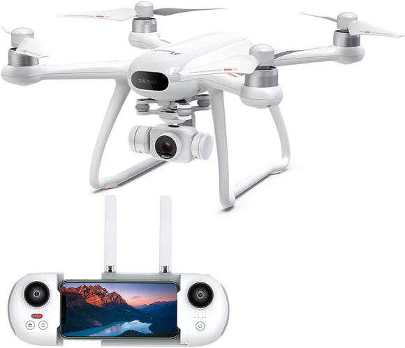 Potensic Dreamer Drones with Camera for Adults and Teenagers 4K, 31Mins Flight 2Hrs Charge, GPS RC Quadcopter with Brushless Motors, Auto Return, Altitude Hold, Follow Me, 5.8G WiFi,Long Control Range