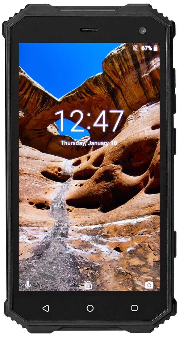 NUU Mobile R1 Rugged IP68-Rated - Waterproof Dual Sim 4G LTE Unlocked Android 8 Smartphone - Black - US Warranty