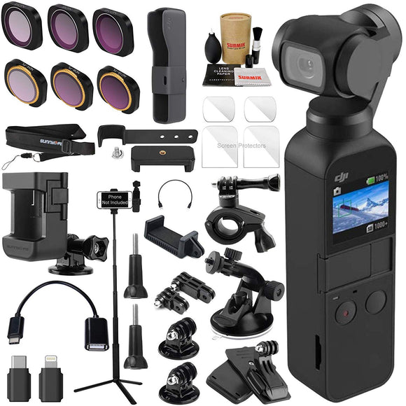 DJI OSMO Pocket 3 Axis Gimbal Camera Elite Combo Bundle with ND & Rotating Polarizer Filter Set