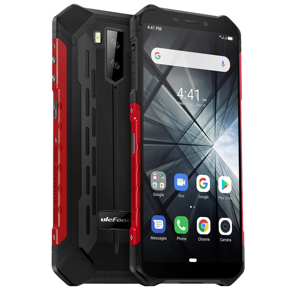 Rugged Cell Phones Unlocked, Ulefone Armor X3 Waterproof Unlocked Cell Phone, Global 3G Dual SIM Android 9.0 2GB+32GB 5.5 inches IPS Dsiplay 5000mAh Battery Dual Cameras Face ID Rugged Phones (Black)