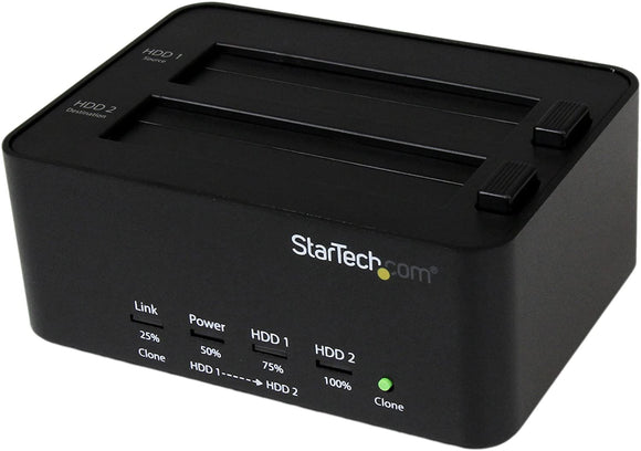 StarTech.com Dual Bay USB 3.0 Duplicator and Eraser Dock for 2.5