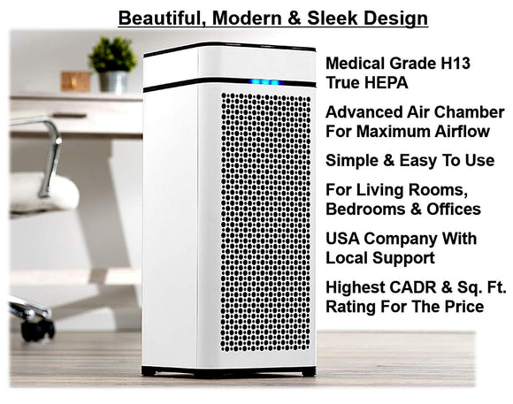 Medify MA-40 Medical Grade True HEPA (H13 99.97%) Air Purifier That Easily Covers 800 Sq. Ft.