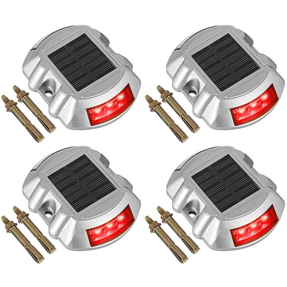 Happybuy Driveway Lights 12-Pack Solar Driveway Lights Bright White Solar Deck Lights Outdoor Waterproof Wireless Dock Lights 6 LEDs for Deck Dock Driveway Path Warning Garden Walkway Sidewalk Steps