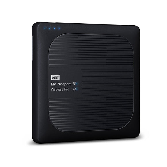 Disco duro externo portátil WD 1TB My Passport Wireless Pro - WiFi USB 3.0 - WDBVPL0010BBK-NESN