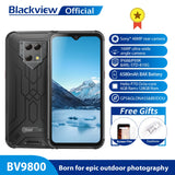 "Blackview BV9800 Helio P70 Android 9.0 6GB+128GB Smartphone 48MP Rear Camera IP68 Waterproof 6580mAh 6.3"" FHD Mobile Phone"