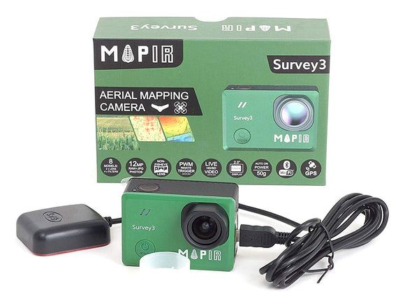 MAPIR Survey3N Camera -Red + Green + NIR (RGN, NDVI) - 8.25mm f / 3.0 41d HFOV (sin distorsión)