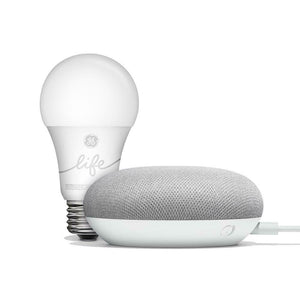 Google Home Mini Smart Light Bulb Starter Kit - Chalk
