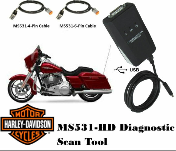 MS531-HD Harley Davidson Scan Tool - Diagnostic Scanner & Performance Tuner
