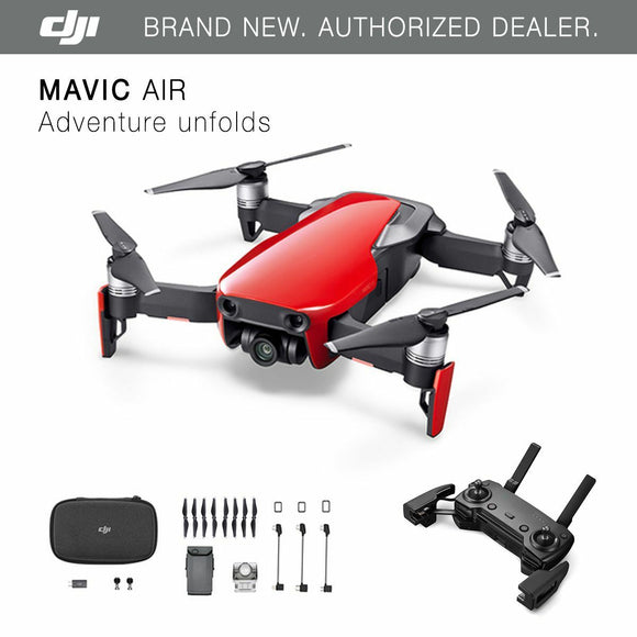 DJI Mavic Air - Flame Red Drone - 4K Camera