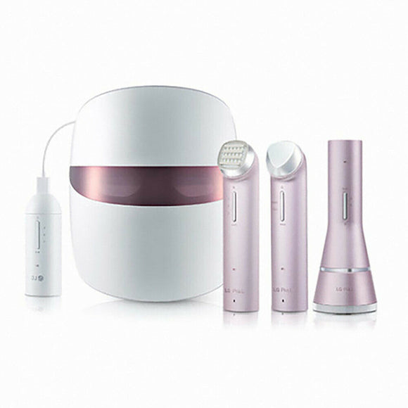 LG Pra L Derma LED Mask Home Care Beauty Device Set of 4 - Pink / Gold