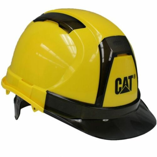 Caterpillar Cat Hard Hat Yellow Ratchet Suspension