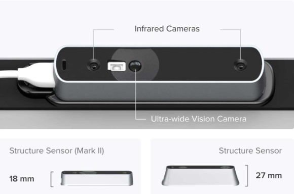 Structure Sensor Mark II Pro Bundle by Occipital 3D escaner