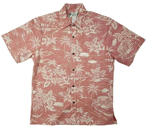 Men's Reverse Cotton Print Shirts - Made in Hawaii | All Clothes Hawaiian
