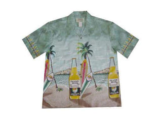 Beers on Waikiki Green 6XL - All Clothes Hawaiian