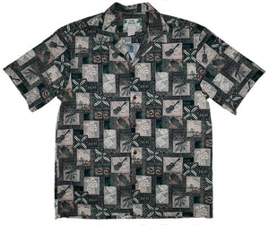 Block Hawaii Green Aloha Cotton Shirt - All Clothes Hawaiian