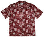 Block Hawaii Red Aloha Cotton Shirt - All Clothes Hawaiian