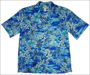 Blue Hawaii Sky Blue Short Sleeve Shirt - 100% Cotton - All Clothes Hawaiian