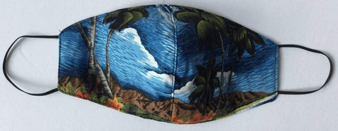 Blue Island Mask - All Clothes Hawaiian