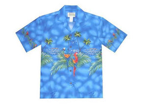 Blue Parrot Hawaiian Aloha Cotton 6XL - All Clothes Hawaiian