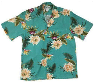 Ceres Green Hawaiian Aloha Rayon Shirt - All Clothes Hawaiian
