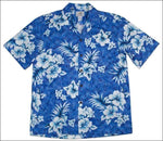 Crack Hibiscus Blue - Men's Short Sleeve - 100% Cotton - All Clothes Hawaiian